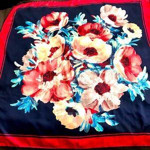 Pelin Turkish Floral Satin Scarf